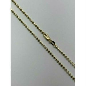 HarlemBling 10k Gold 2mm Ball Bead Chain Necklace